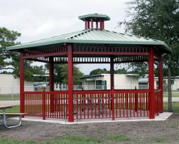 Our Products - The Sweetman Group brings you gable roof structures, gazebos, small shade and sunshade structures, as well as walkway and entryway covers.