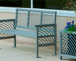 Our Products - Come to us for Park Benches, Trash Receptacles, Recycling Bins, Bike Parking, Fire Pits, Planters, Outdoor Tables & Chairs, or Tree Grates and Guards.